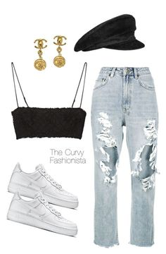 """""""Untitled #1121"""" by thecurvyfashionistaa ❤ liked on Polyvore featuring Hermès, Ksubi, ADAM, Chanel and NIKE #trendymoda"""