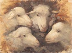 Nicolae Grigorescu Portrait Art, Sheep, Country Roads, Artwork, Animals, Painting, Inspirational, Wall, Beauty