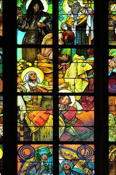 prague cathedral stained glass - Google Search