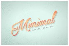 Instant Minimal Metal Effect for AI by Chewed Vector on @creativemarket