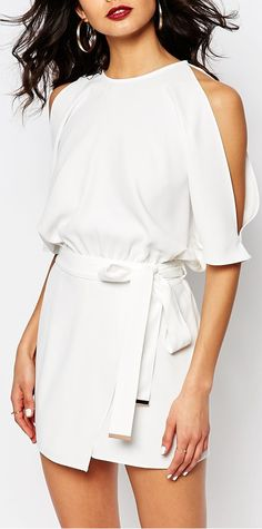 60c6586cdea2d cold shoulder romper Cold Shoulder Top Outfit