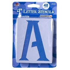 "Plaid Letter Stencils, Genie, 4"""