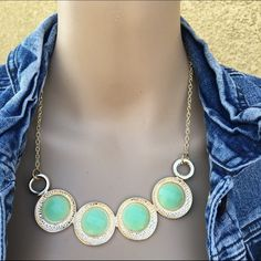 BOGO FREE: Mint Orbit necklace  Just in! Necklace- brand new in packaging!  Offers considered  Only ONE available Jewelry Necklaces