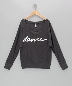 Take a look at this Dark Gray Dance Dolman Top - Girls by Dancewearables on #zulily today!