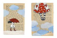 i biglietti d'auguri di Annette Mangseth,  Carambatack design. Belle anche come regalo di Natale