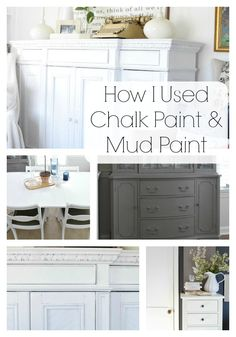 How I used Mud Paint and Chalk Paint in my home. Tips for using both, - Nesting With Grace