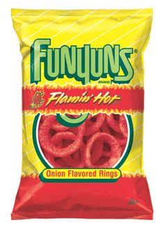 THERE ARE NO WORDS TO DO THESE JUSTICE BUT I WILL GO WITH AWESOMELY AMAZING! I am not even a huge Funyun fan but these totally rock my world :D FUNYUNS® FLAMIN' HOT® Onion Flavored Rings