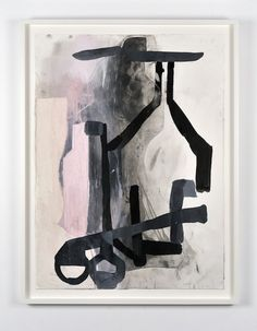 Amy Sillman  A Shape that Stands Up and Listens #2, 2012  Ink, gouache, pencil, chalk, characoal on paper  76.2 x 60 cm / 30 x 22 inches