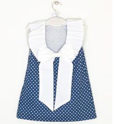 Vestido topitos lazada espalda | Aiana Larocca Moda Infantil