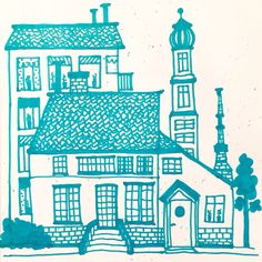 22/365, 2016 | Tid: 1 h | Cottage | #micaelawernberg #illustration #stad #cottage #hus #house #grön #linjer #urban #town #green #promarker #handdrawn #lines #city #organic #pattern #drawing #artoftheday #drawingoftheday #enomdan2016 #project365 #oneaday2016 #bookbindersdesign #365project