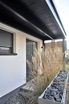 Carport Stahl mit Glasdach und integriertem Zaun | House front ...