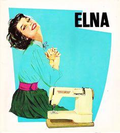Come molti sanno, a luglio si è rotta la mia adorata macchina da cucire. Ma se in questo periodovolete immaginarmi in qualche modo, pensatemi con l'espressione di questa donna del 1958 davanti alla sua macchina da cucire, unanuova Elna Super