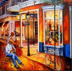 Jazz on Royal Street    New Orleans Art by Diane Millsap