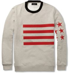GIVENCHY APPLIQUED COTTON JERSEY SWEATER