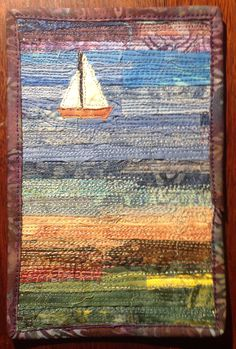 SAILBOAT POSTCARD BY LIZ BELINA