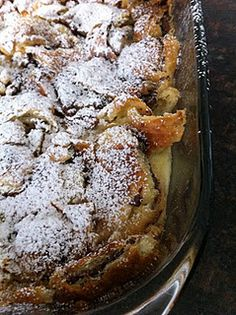 Nutella Croissant Bread Pudding- definitely doing this unhealthy dish with my left over Xmas croissants!!