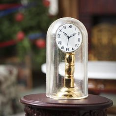 Dollhouse Miniature Old Fashioned Clock Old Fashioned Clock, Dollhouse Miniatures, Dollhouse Interiors, Metal Figurines, Miniature Dolls, Craft Supplies, Indoor, Larger, Crafts