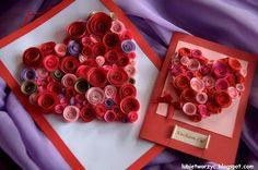 Я творю: День святого Валентина карты «сердце» из бумаги сучки