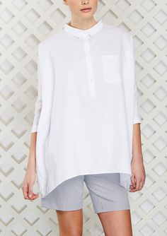 ideel: ENGLISH FACTORY Short Sleeve Collared Top...$39.99 - BozBuys Budget Buyers Best Brands! ejewelry & accessories...online shopping http://www.BozBuys.com
