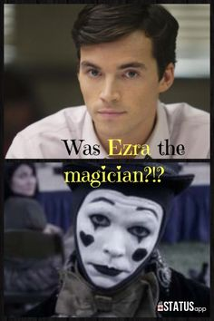 I really think he is! I tried and tried to figure it out when this episode aired.. Why else, out of ALL the people there would he pick Aria?