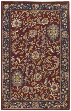 $5 Off when you share! St. Croix Trading Traditions Kashan PT11 Red Rug | Traditional Rugs #RugsUSA