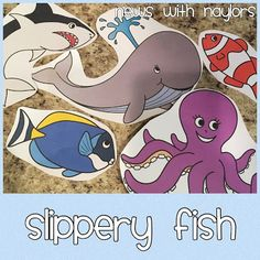 Slippery Fish Song with visuals link. Letter F Songs & Rhymes for toddlers and preschoolers.