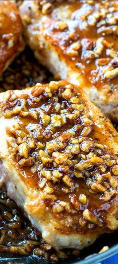 Five Approaches To Economize Transforming Your Kitchen Area Honey Pecan Pork Chops. Served It With Rice As Suggested, The Sauce Was Excellent On It. Pork Chop Recipes, Meat Recipes, Cooking Recipes, Recipies, Turkey Cutlet Recipes, Paleo Dinner, Dinner Ifeas, Dinner Recipes, Pork Dishes