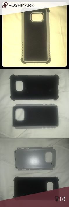 Samsung Galaxy S6 2 piece plastic/Rubber cell case Samsung Galaxy S6 2 Piece Gray & Black cellphone case Brand New never been used. Samsung Accessories Phone Cases
