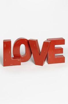 Decorative Metal Letter Love