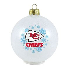 Kansas City Chiefs LED Ball Christmas Ornament, Multicolor