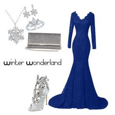 A fashion look from December 2016 featuring plus size special occasion dresses, Giuseppe Zanotti and zipper bag. Browse and shop related looks. Giuseppe Zanotti, Winter Wonderland, Jimmy Choo, Mary, Formal Dresses, Disney, Polyvore, Shopping, Collection