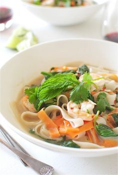 Shrimp Pho | Bev cooks  I think I might actually be able to make this.