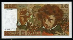 France money 10 French Francs Hector Berlioz banknote of 1978, issued by the Bank of France - Banque de France.