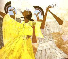 Golden Book of Greek Myths - illustration by Martin and Alice Provensen