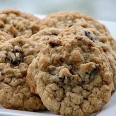 Oatmeal Raisin Cookies - Excellent!  Exchanged 1/4 cup of butter for applesauce, cut sugar down by 1/2 cup, used whole wheat and flaxmeal.