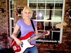 "Keri with her Fender ""Redbass""."