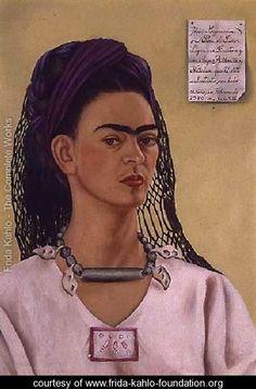 Self Portrait 1940 II - Frida Kahlo - www.frida-kahlo-foundation.org
