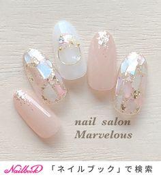 Sparkly Nails, Pink Nails, Gel Nails, Japanese Nail Design, Japanese Nails, Nail Art Designs Videos, Gel Nail Designs, Almond Acrylic Nails, Best Acrylic Nails