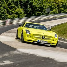 """@Top Gear called the SLS AMG Electric Drive """"brilliantly revolutionary"""" and described what felt like a """"tsunami-surge of torque"""" as they pushed the pedal. Would you enjoy taking our electric supercar out on a nice weekend drive?   #mercedes #benz #sls #amg #instacar #luxury #germancars #carphotography #carsofinstagram #coupe #electric #electriccar #supercar"""