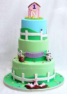 Hehe, this barnyard cake is just too cute!