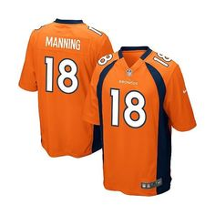 low priced b3633 d5490 Youth Nike Denver Broncos Payton Manning Game Team Color Jersey