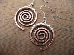 Copper Earrings Hand Made Jewelry Copper Dangle Earrings