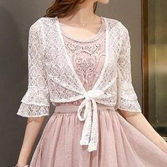 Buy 'Romantica � Tie-Front Lace Bolero' with Free International Shipping at YesStyle.com. Browse and shop for thousands of Asian fashion items from China and more!