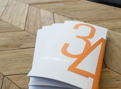 Southbank34 Tour Collateral. Designed by Nimble. Design Co. Clever flap enclosure. #print #brochure