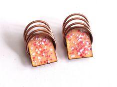 Modernist Copper Earrings Vintage MATISSE Earrings by TheCopperCat