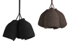 Designer Vasiliy Butenko created his new Acorn lights by simply cotton rope around a bottle. He wanted to avoid the complex manufacturing techniques related to weaving and create something more simple.