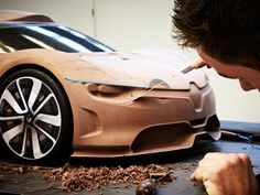 Renault Alpine A110 50 Concept Clay modeling
