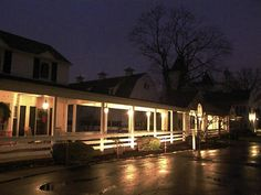 Inn at night, looking towards the Welcome Center