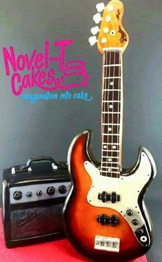Guitar and amp cake - Cake by Novel-T Cakes
