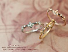 Rose-cut diamond rings